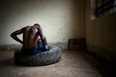 Boxer, Mengo, Uganda  ©  Rebecca Vassie, 2015